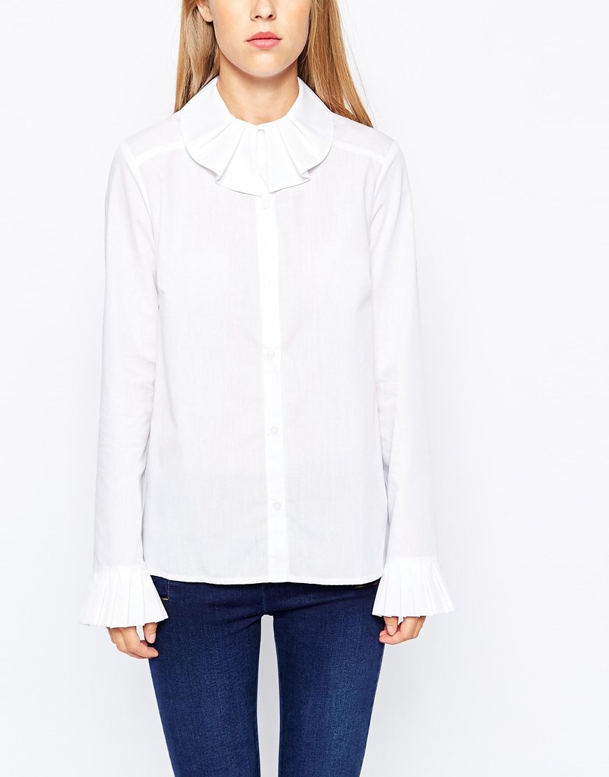 Image result for white shirt with frill cuff