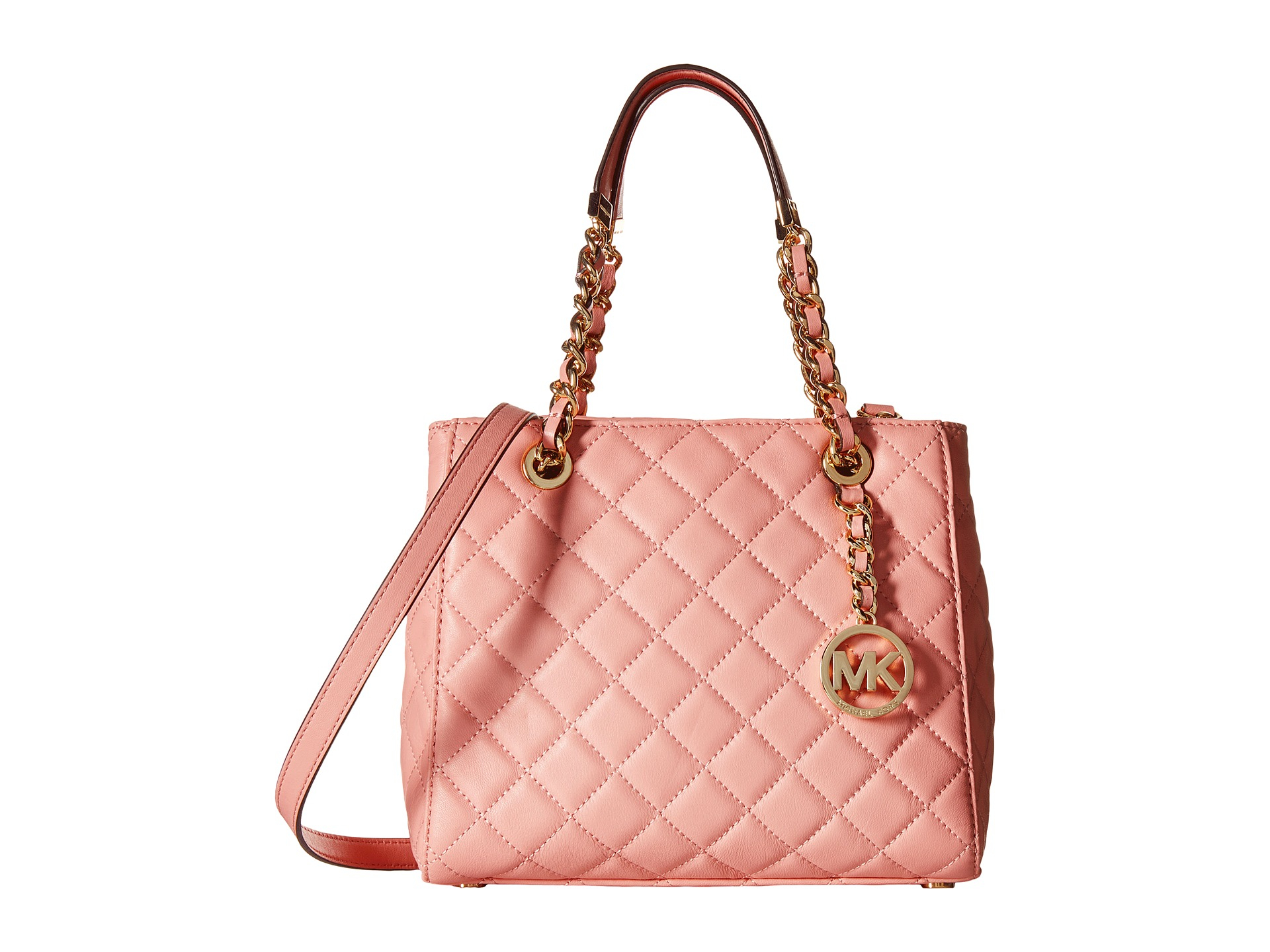 Lyst - MICHAEL Michael Kors Susannah Small North south Tote in Pink 1a2a6ae938