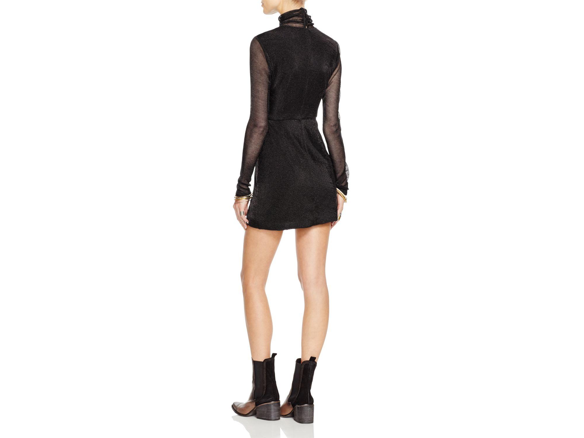 Free people Mercury Bodycon Dress in Black | Lyst