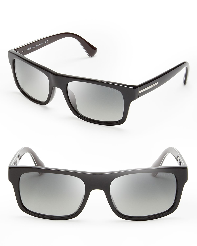 b4b4d81914a7 ... get lyst prada wayfarer sunglasses in black for men 14c6f 161d4