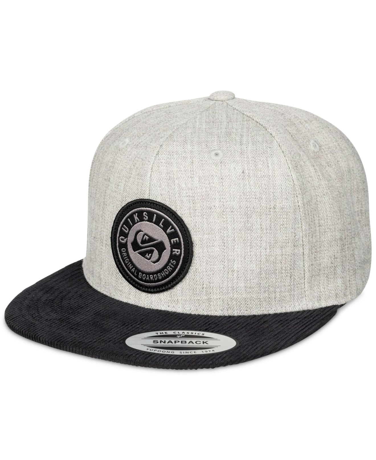 598f9da07eec18 ... czech lyst quiksilver roast snapback hat in gray for men 28279 f0ed3