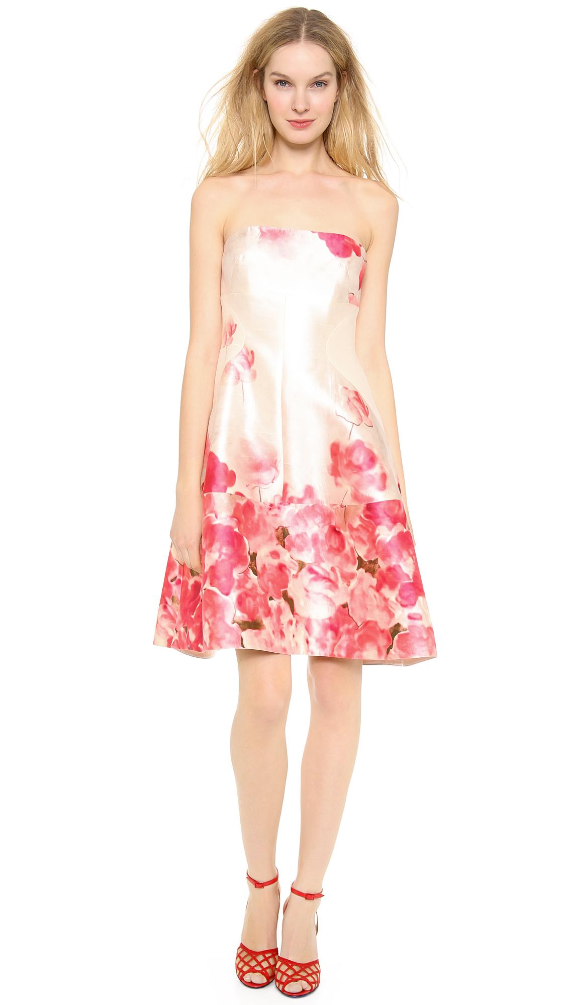591bcef5e590 Lela Rose Seamed Strapless Dress in Pink - Lyst