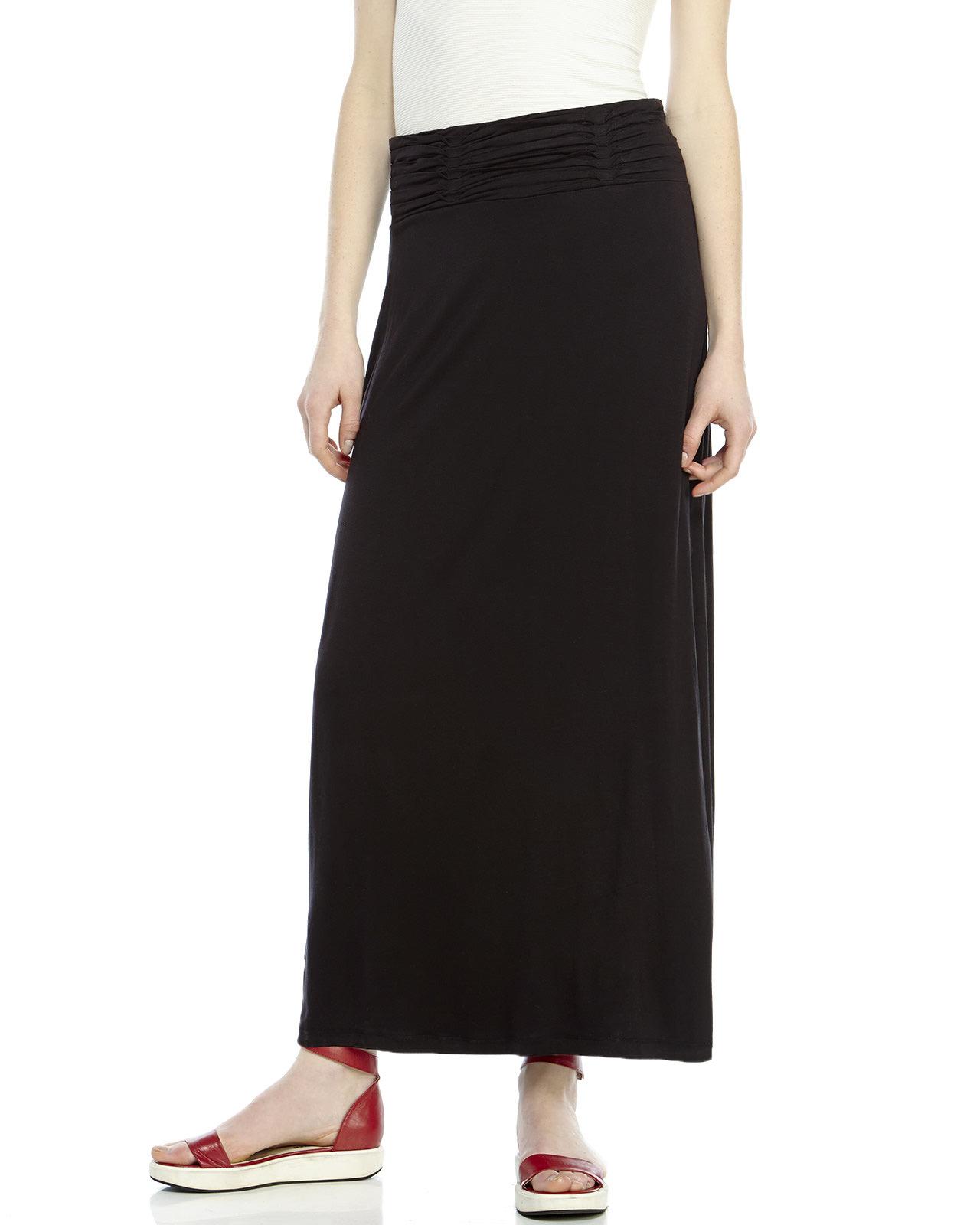Brilliant Petite long black skirt something and