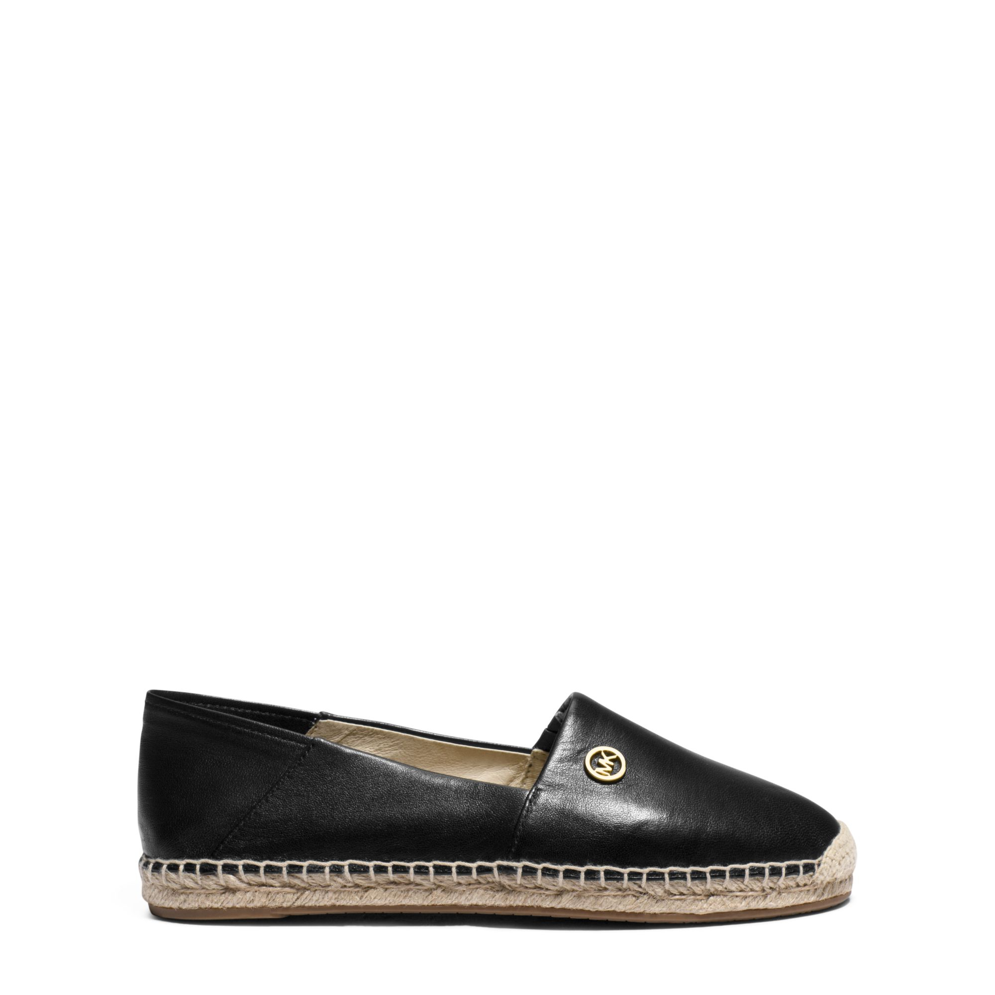 michael kors kendrick leather espadrille in black lyst. Black Bedroom Furniture Sets. Home Design Ideas