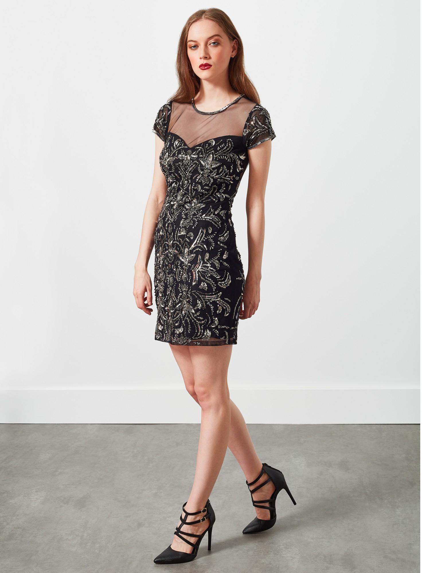 Miss selfridge floral lace bodycon dress