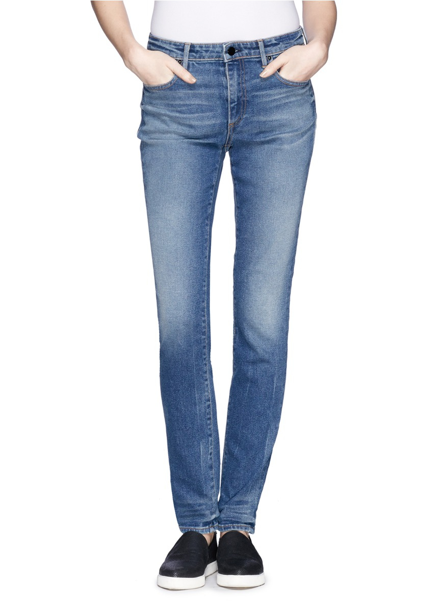 d8d5f7f080 T By Alexander Wang 'wang 001' Slim Fit Jeans in Blue - Lyst