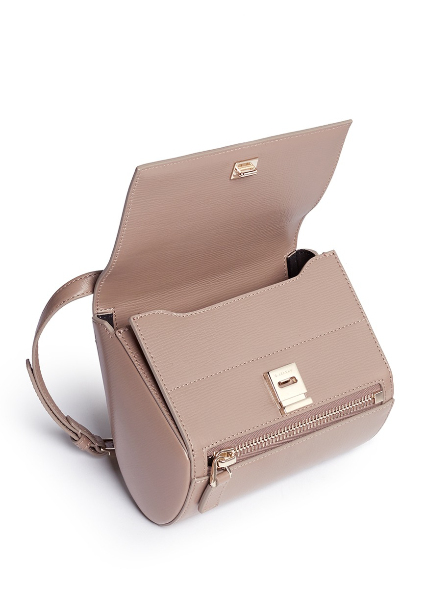fe9b57cb417 Givenchy Pandora Box Mini Leather Shoulder Bag in Natural - Lyst