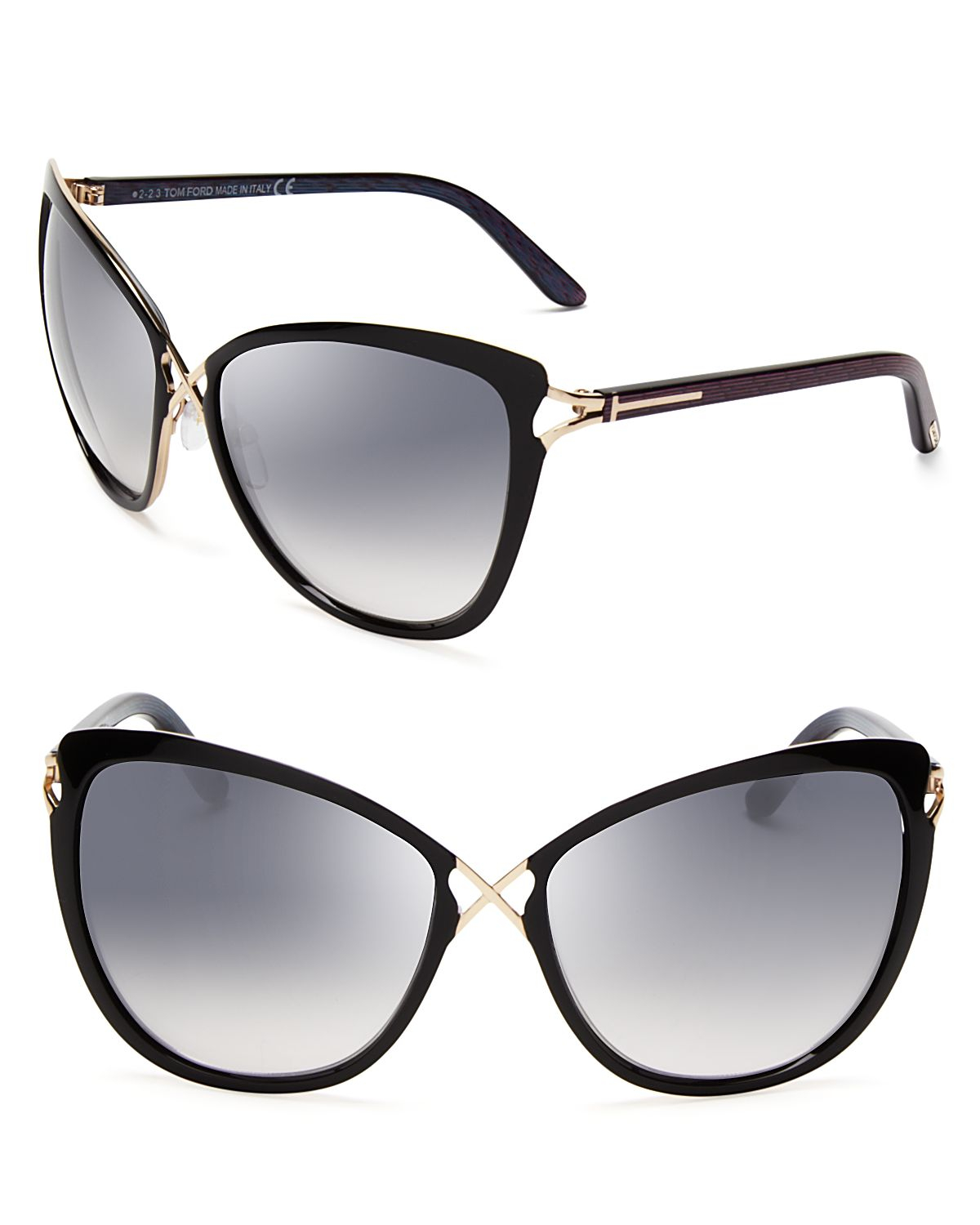tom ford celia cat eye sunglasses in black black gold lyst. Cars Review. Best American Auto & Cars Review