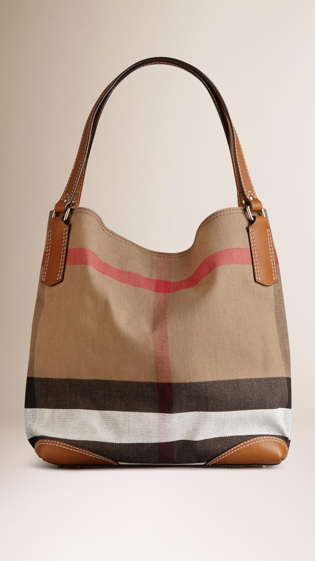 Lyst - Burberry Medium Canvas Check Tote Bag in Brown 5510ba23cd