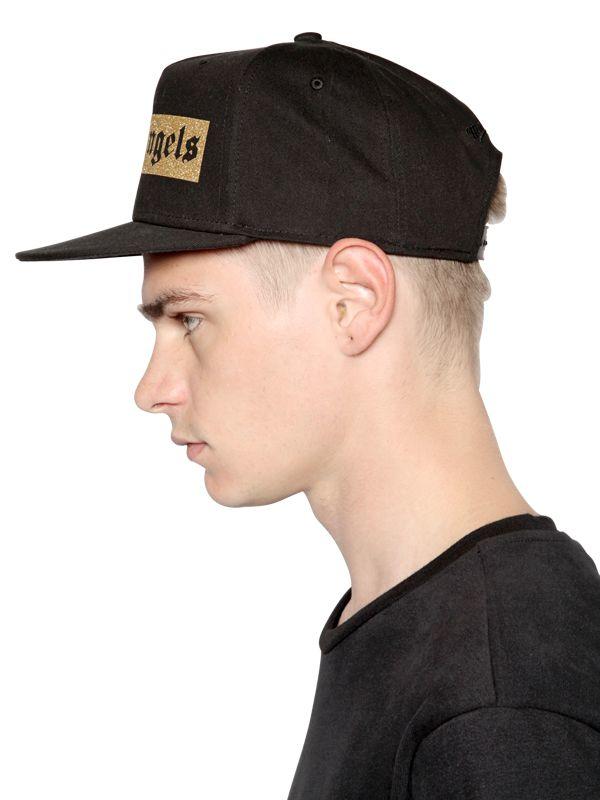900cdafe8e2 Lyst - Palm Angels Glitter Logo Printed Baseball Hat in Black for Men
