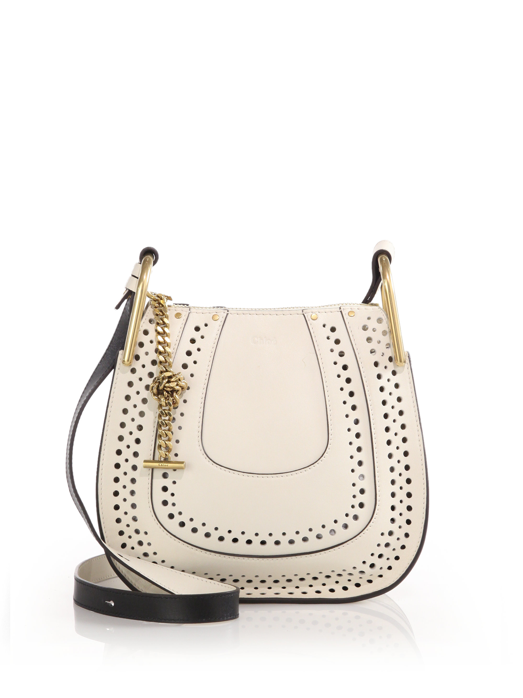 how to spot a fake chloe bag - Chlo�� Hayley Small Perforated Leather Crossbody Bag in White | Lyst