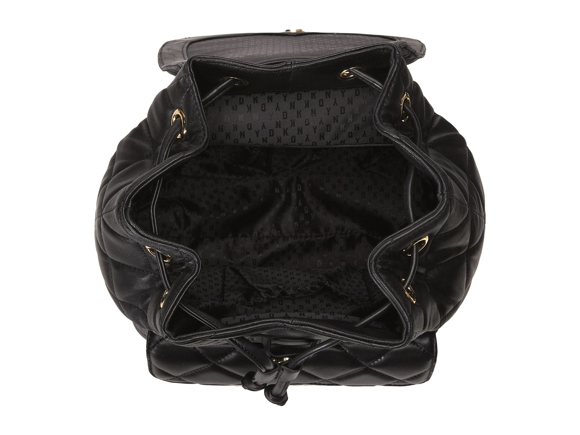 Dkny Gansevoort - Quilted Backpack in Black | Lyst : dkny quilted rucksack - Adamdwight.com
