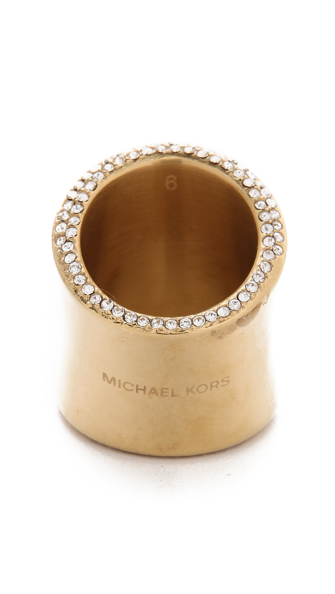 michael kors wide statement ring gold in gold lyst