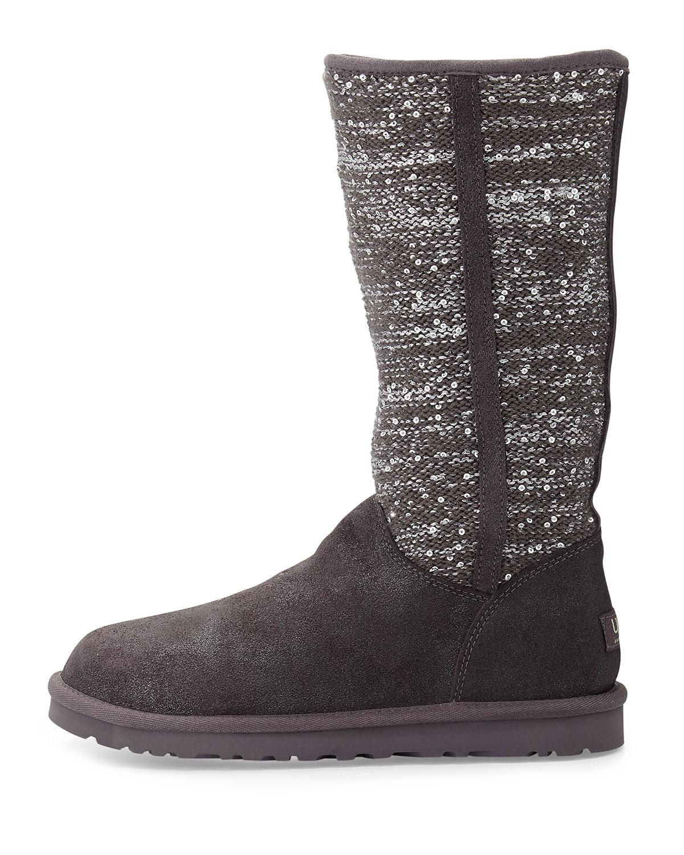 uggs metallic grey