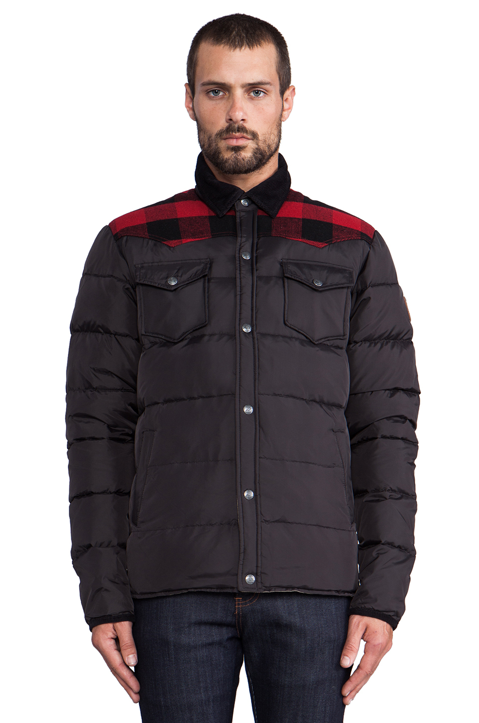 Penfield Rockford Lightweight Down Jacket In Black For Men