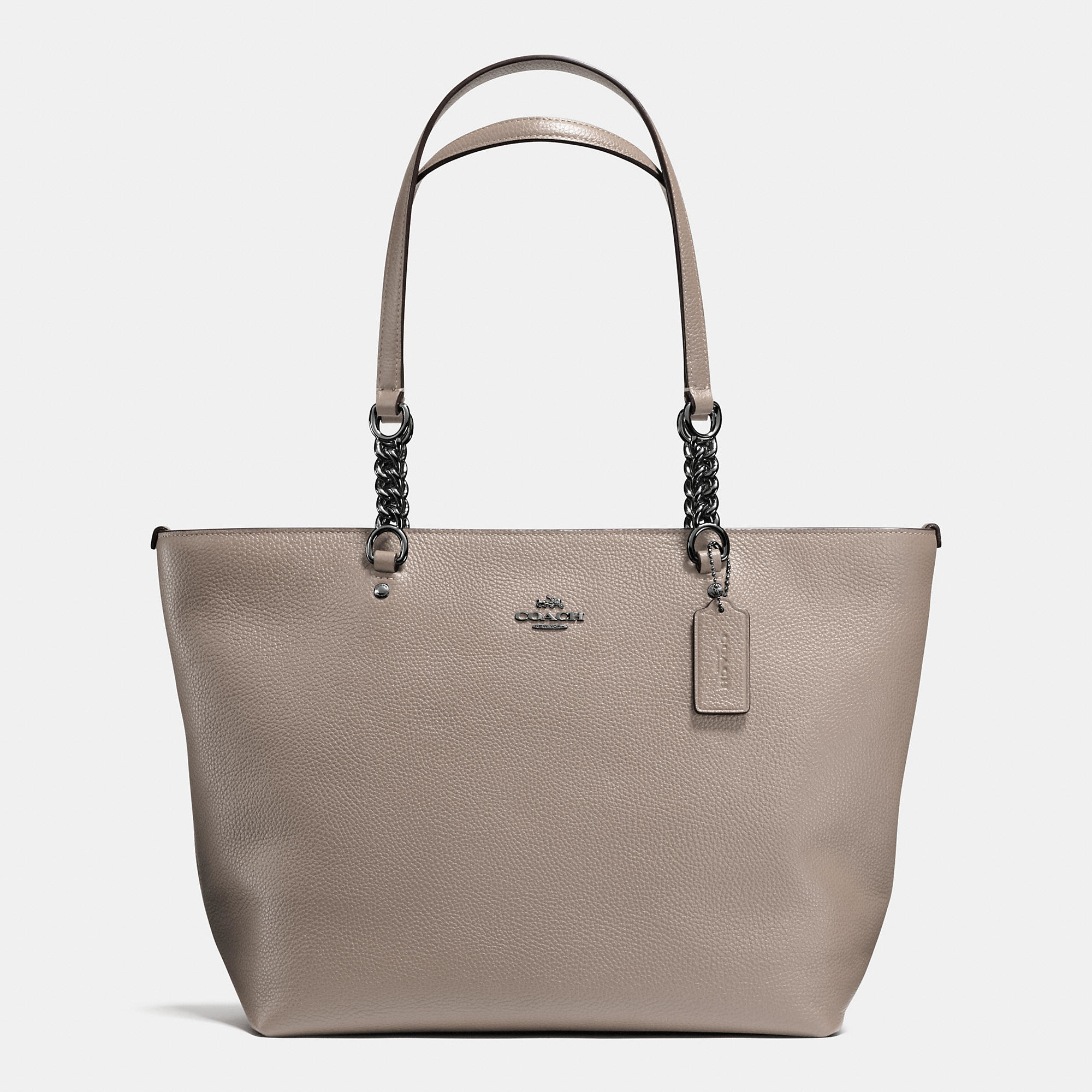 6d85bde157 Lyst - COACH Sophia Tote In Pebble Leather in Brown