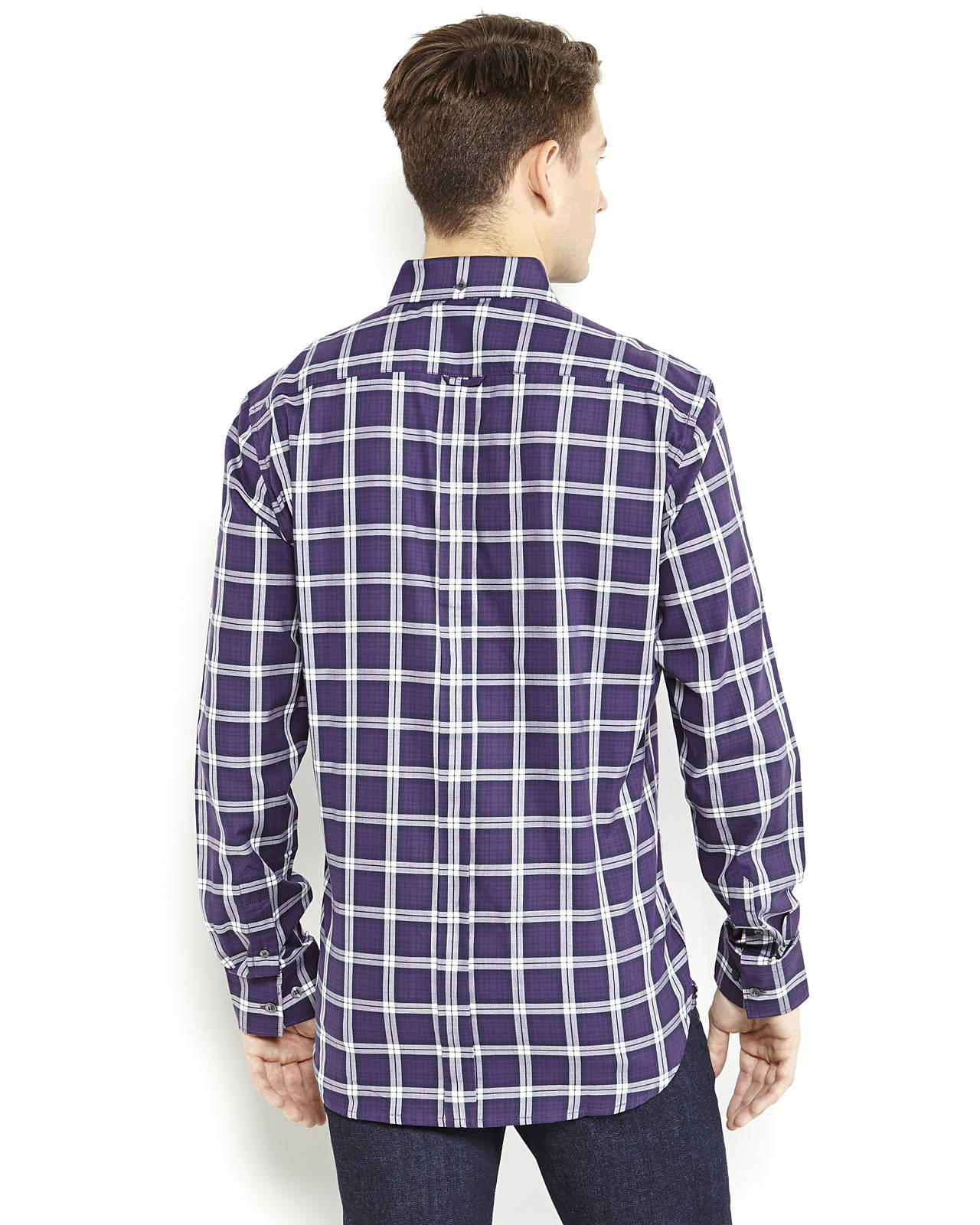 Purple Plaid Button Down Shirt Shirts Rock