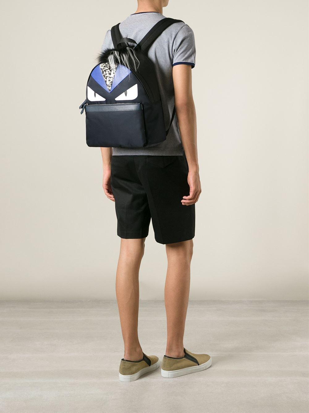 df21b3bb33e ... Lyst - Fendi bag Bugs Backpack in Blue for Men premium selection 5b7f0  b857a ...