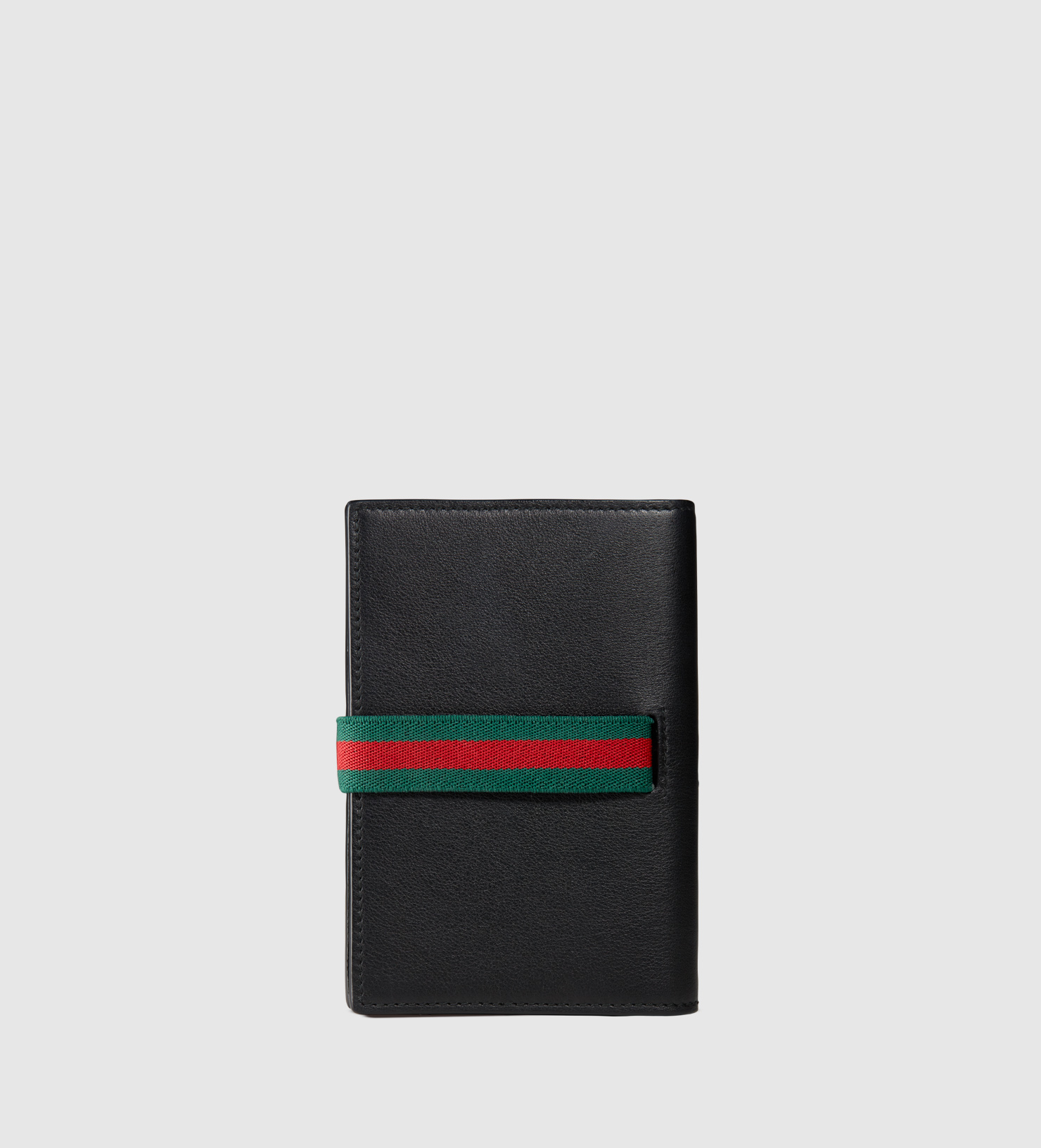 5079f9212300 Gucci Elastic Leather Passport Case in Black for Men - Lyst