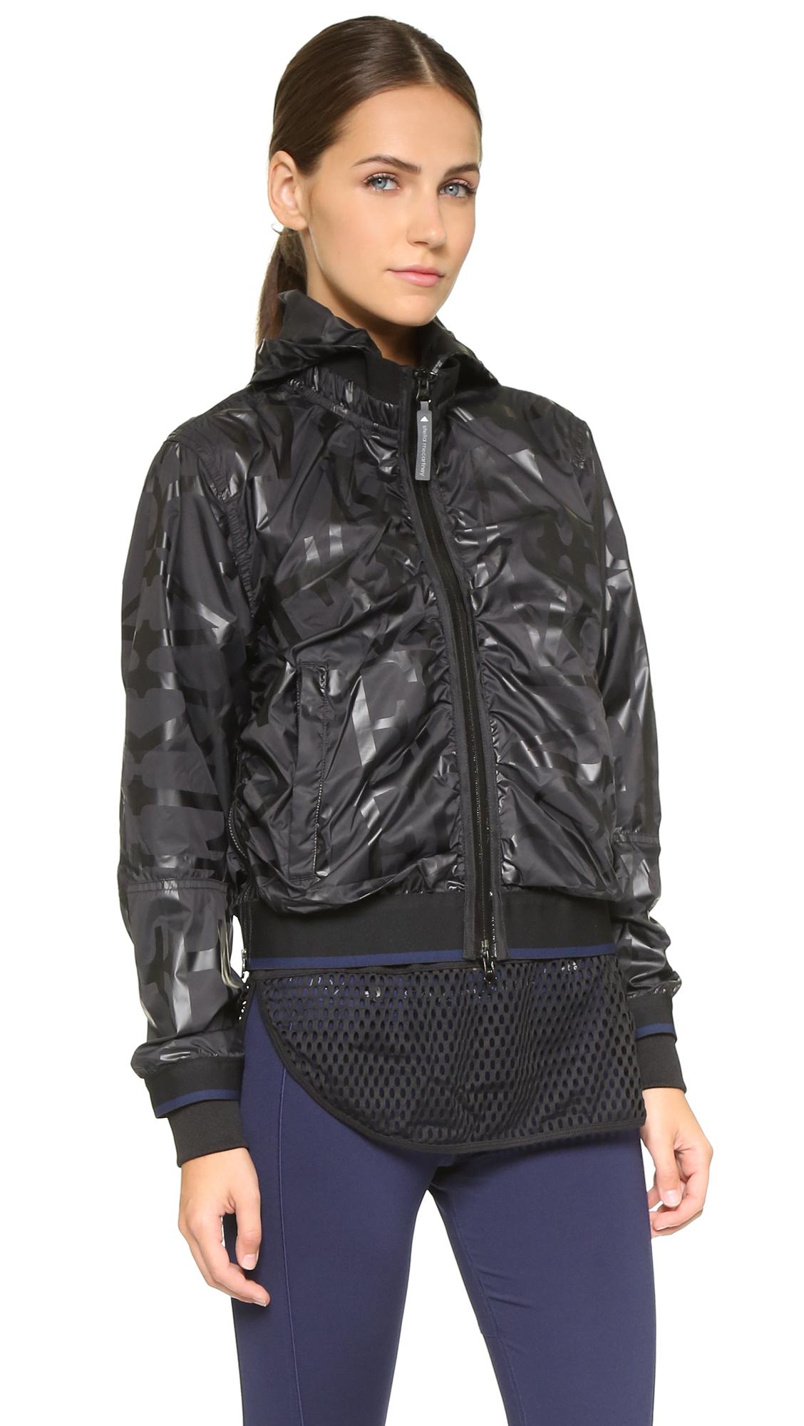 lyst adidas by stella mccartney running perf jacket. Black Bedroom Furniture Sets. Home Design Ideas