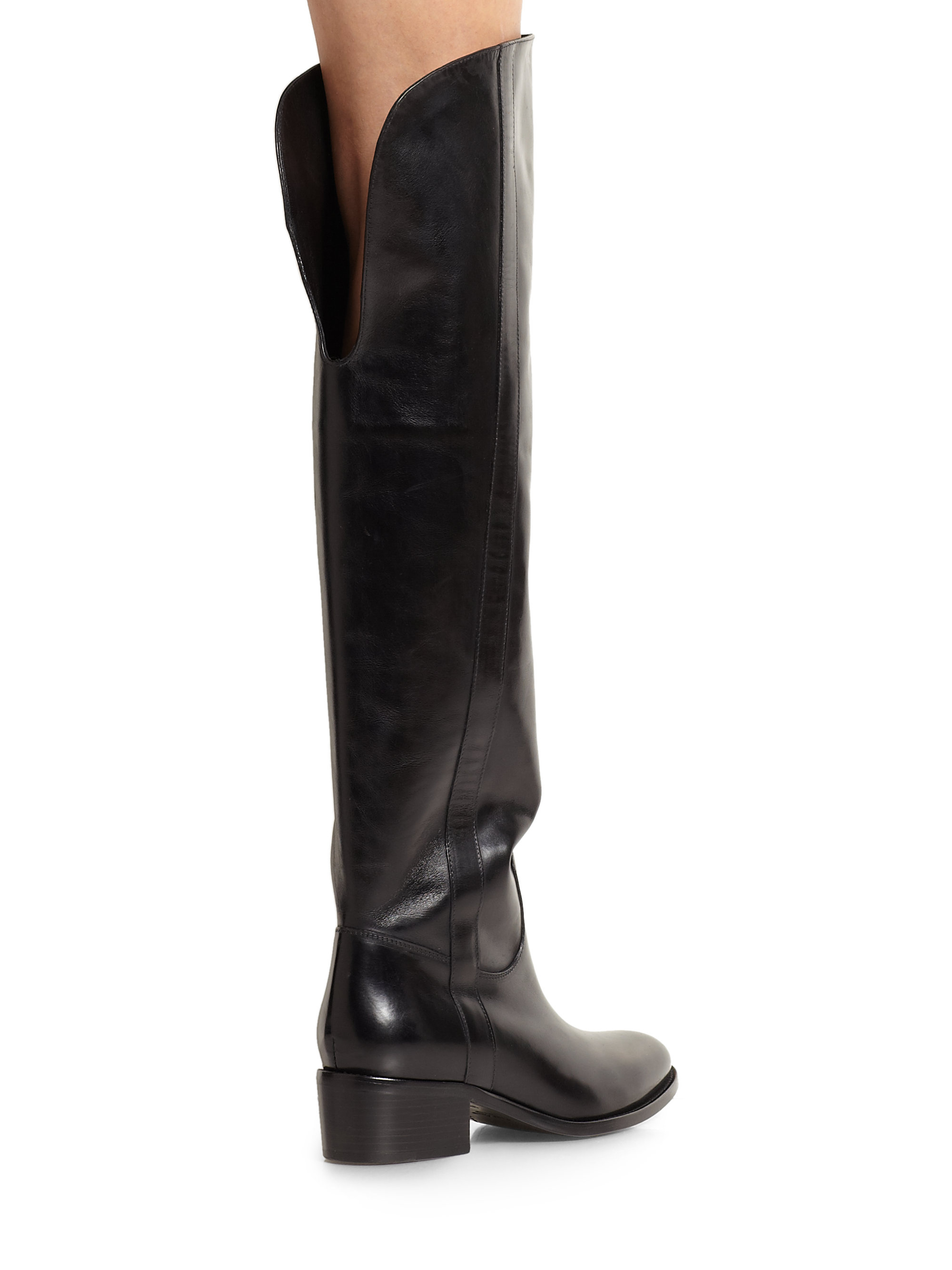 Lyst Ralph Lauren Collection Safia Leather Over The Knee
