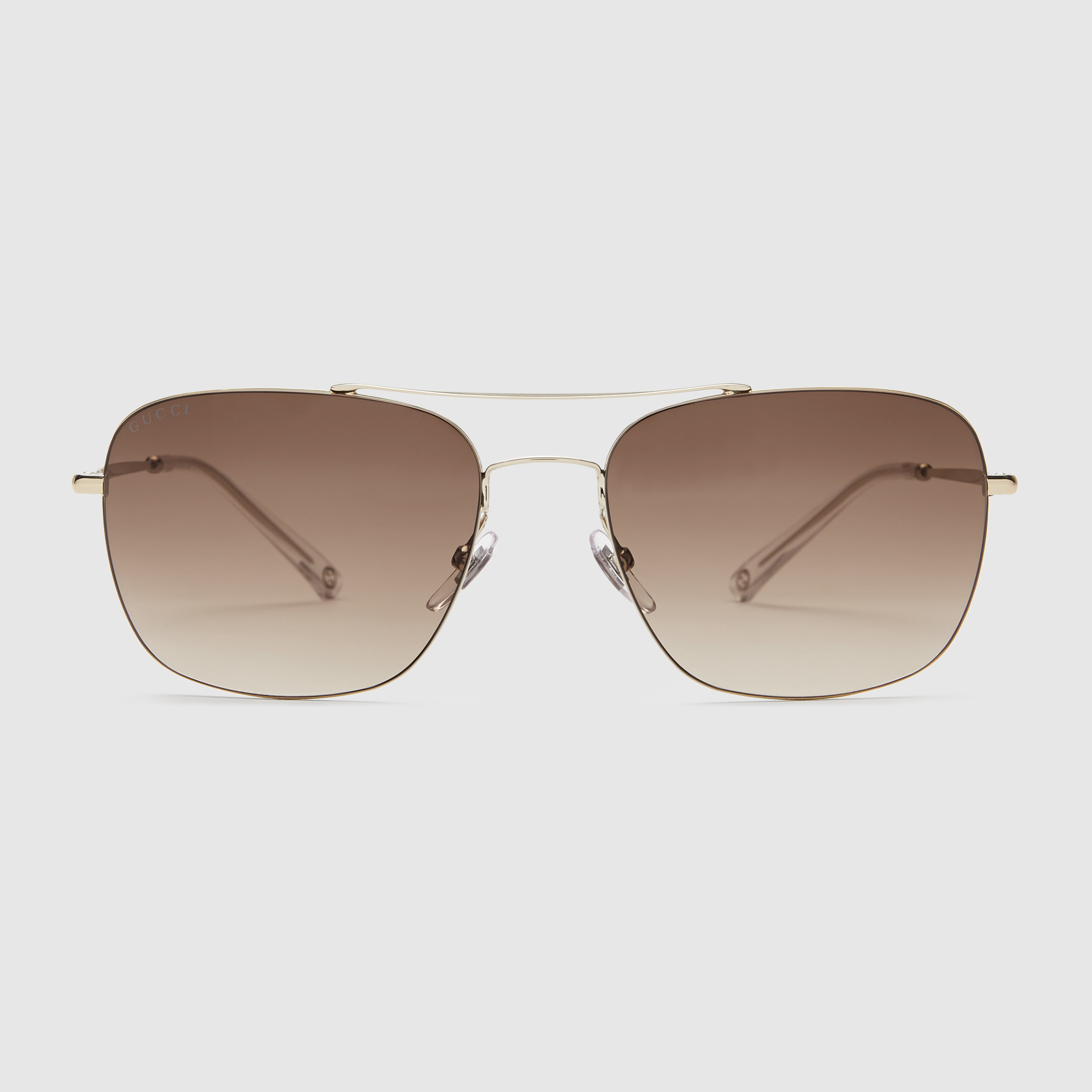 Square Framed Sunglasses  gucci steel square frame sunglasses in metallic for men lyst