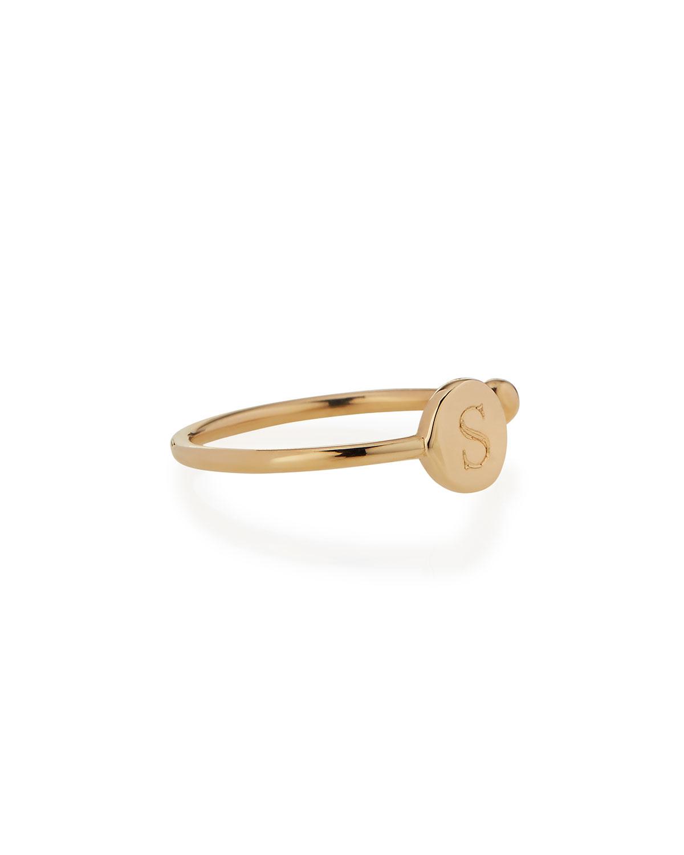 Sarah Chloe Rocha 14k Gold Initial Open Diamond Ring CTRvv
