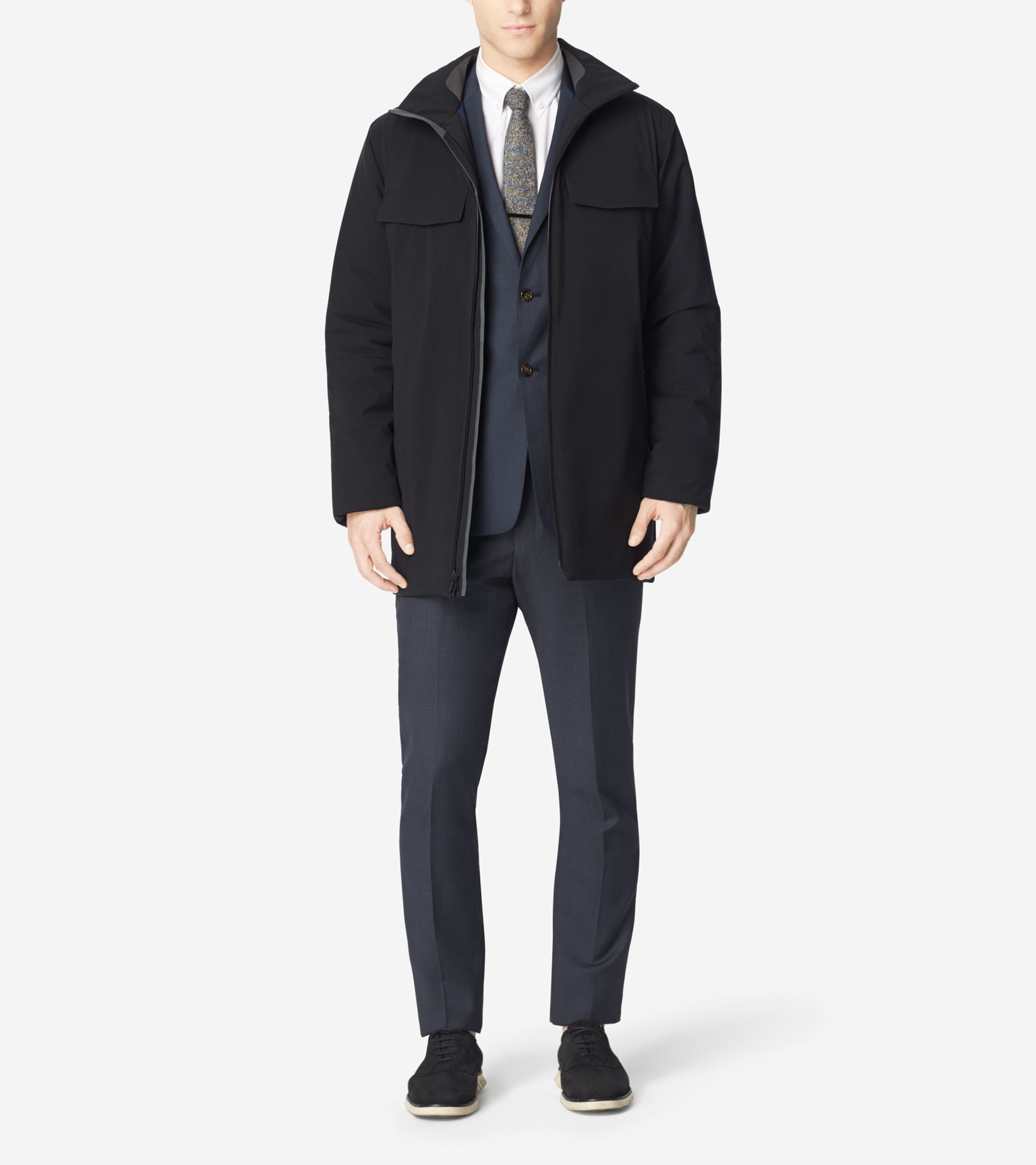 Cole haan Zerøgrand Motoring Coat in Black for Men