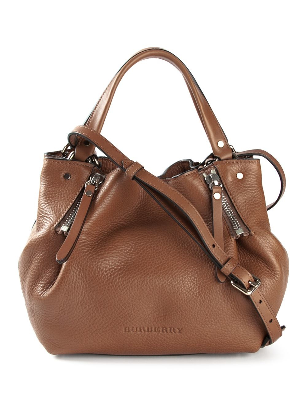 623dd38ca2e3 Keeping Burberry Small Bags   Lyst burberry maidstone small bag in brown