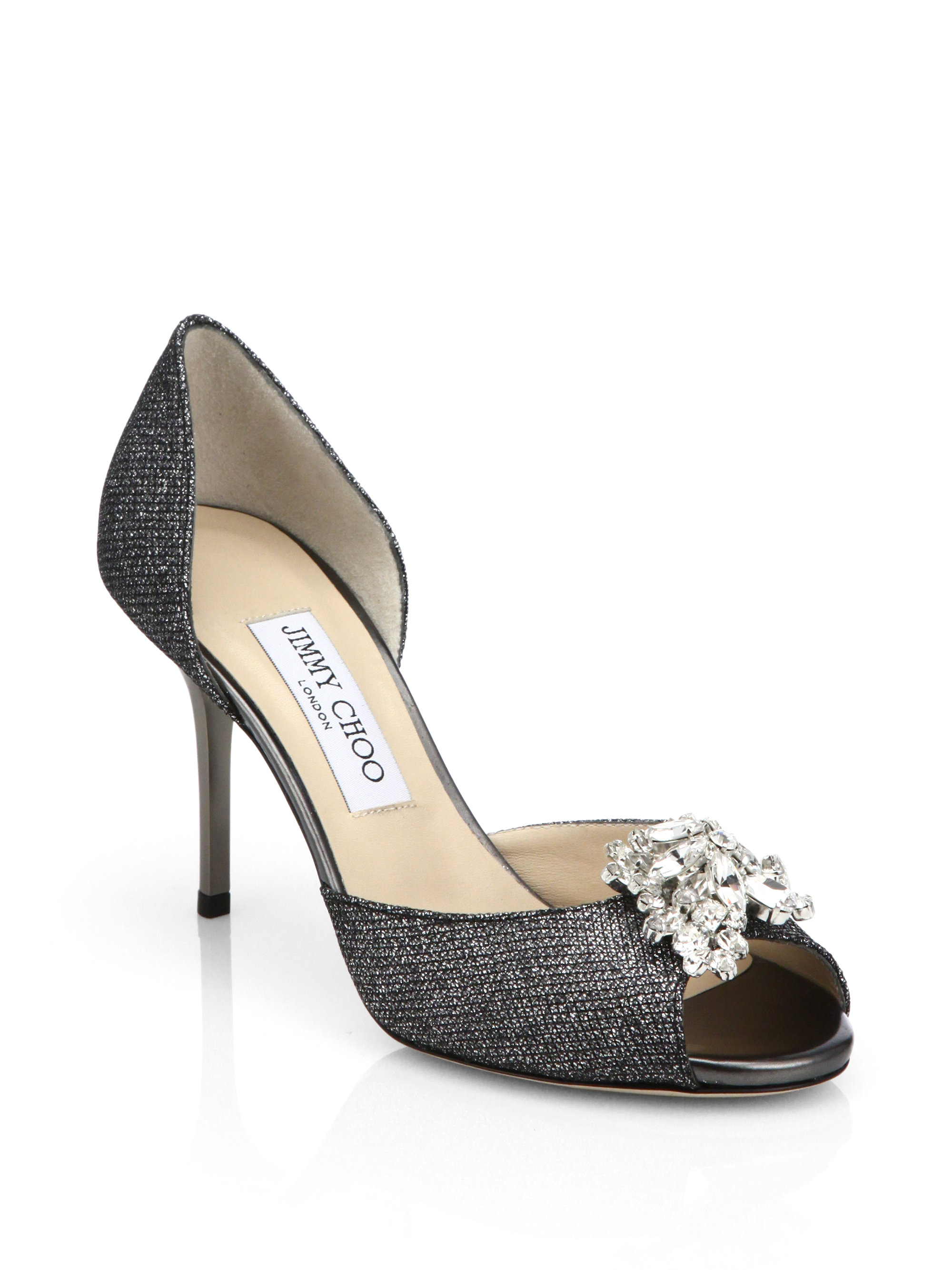 Jimmy Choo Satin d'Orsay Pumps outlet order excellent for sale buy cheap 100% original discount latest collections good selling cheap price LqDIsOxqvF