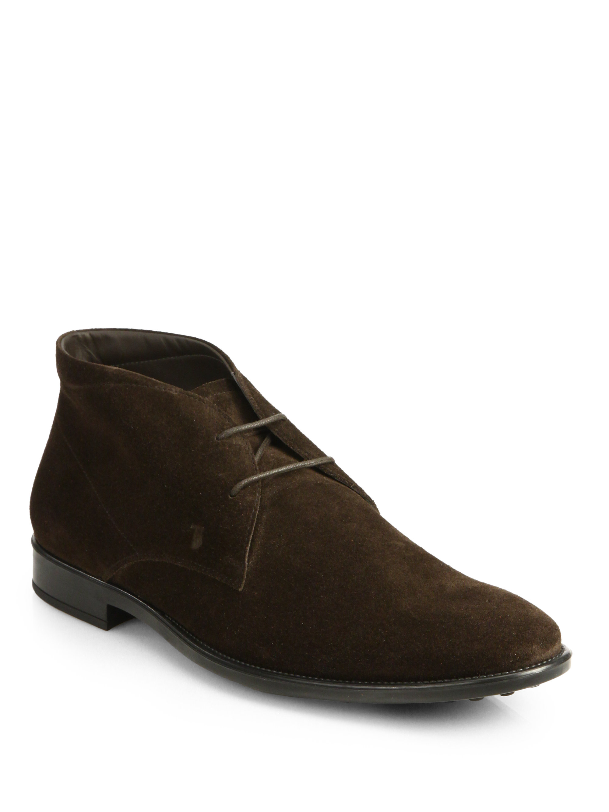 tod s polacco suede ankle boots in brown for lyst