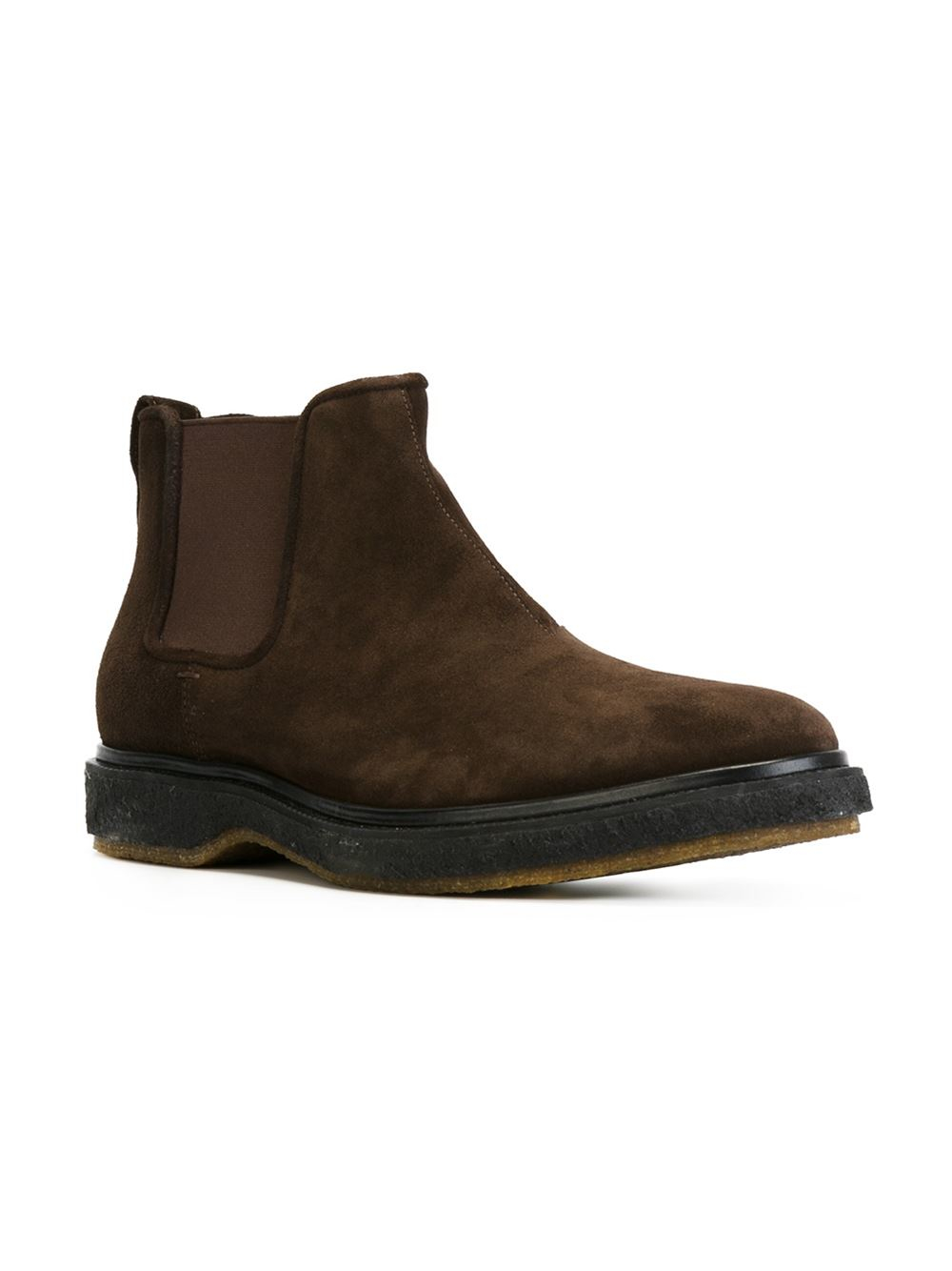 henderson flat chelsea boots in brown for lyst