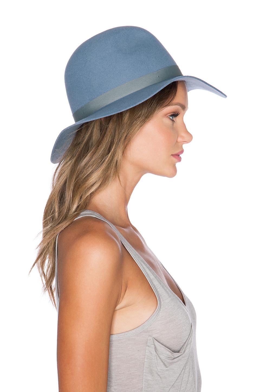 Lyst - Brixton Dalila Hat in Blue 4ba2608872e