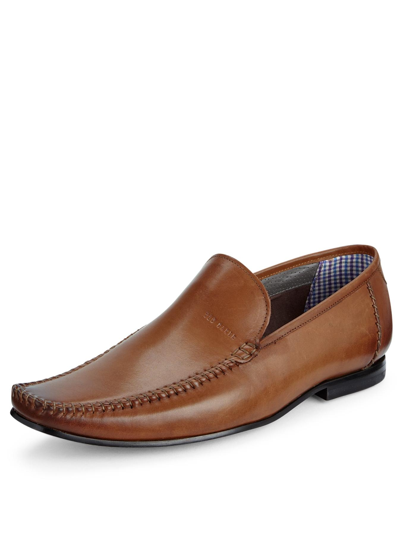 ted baker ted baker bly 5 mens slip on shoes in brown for