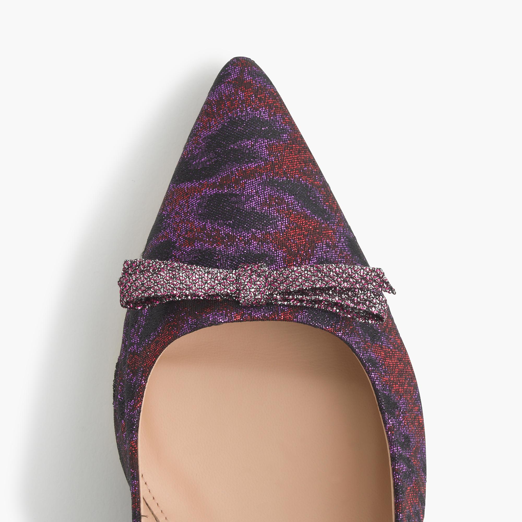 290e27822c7 Lyst - J.Crew Dulci Jacquard Kitten Heels in Purple
