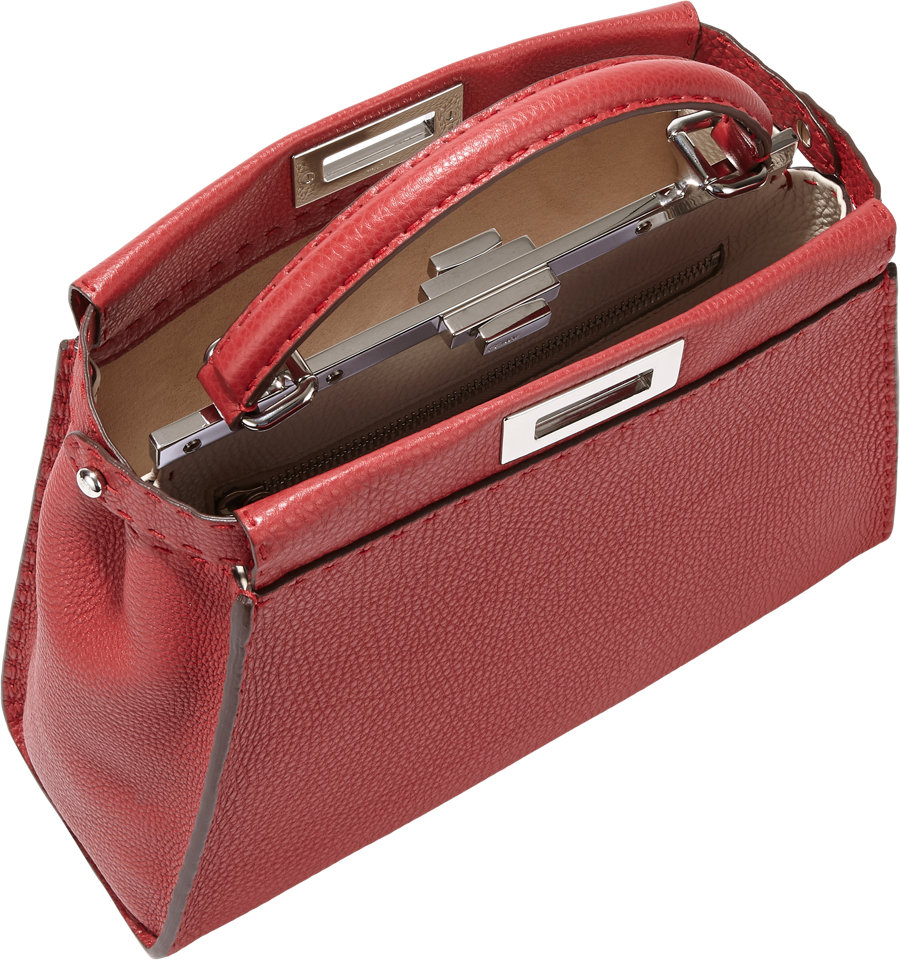 ... low price fendi small selleria peekaboo bag in red lyst 1eb9b 0ac31 67d322f9ac995