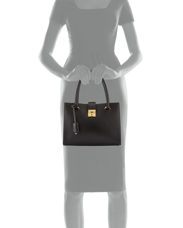 8508dc5ecae3 Lyst - Ferragamo Juliette Lock Story Tote Bag in Black
