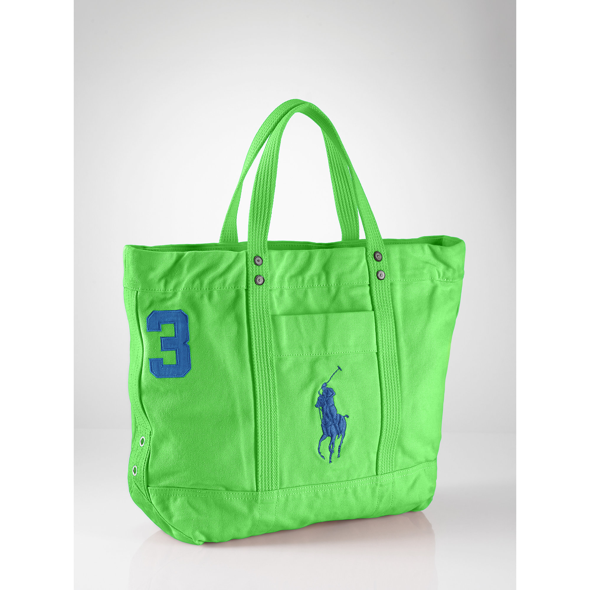 ... polo ralph lauren big pony cotton canvas tote bag ...