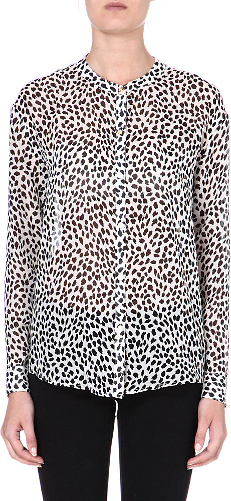 2ec1bbdfa65d6 Juicy Couture Cheetah Print Silk Shirt Ang Wild Cheetah - Lyst