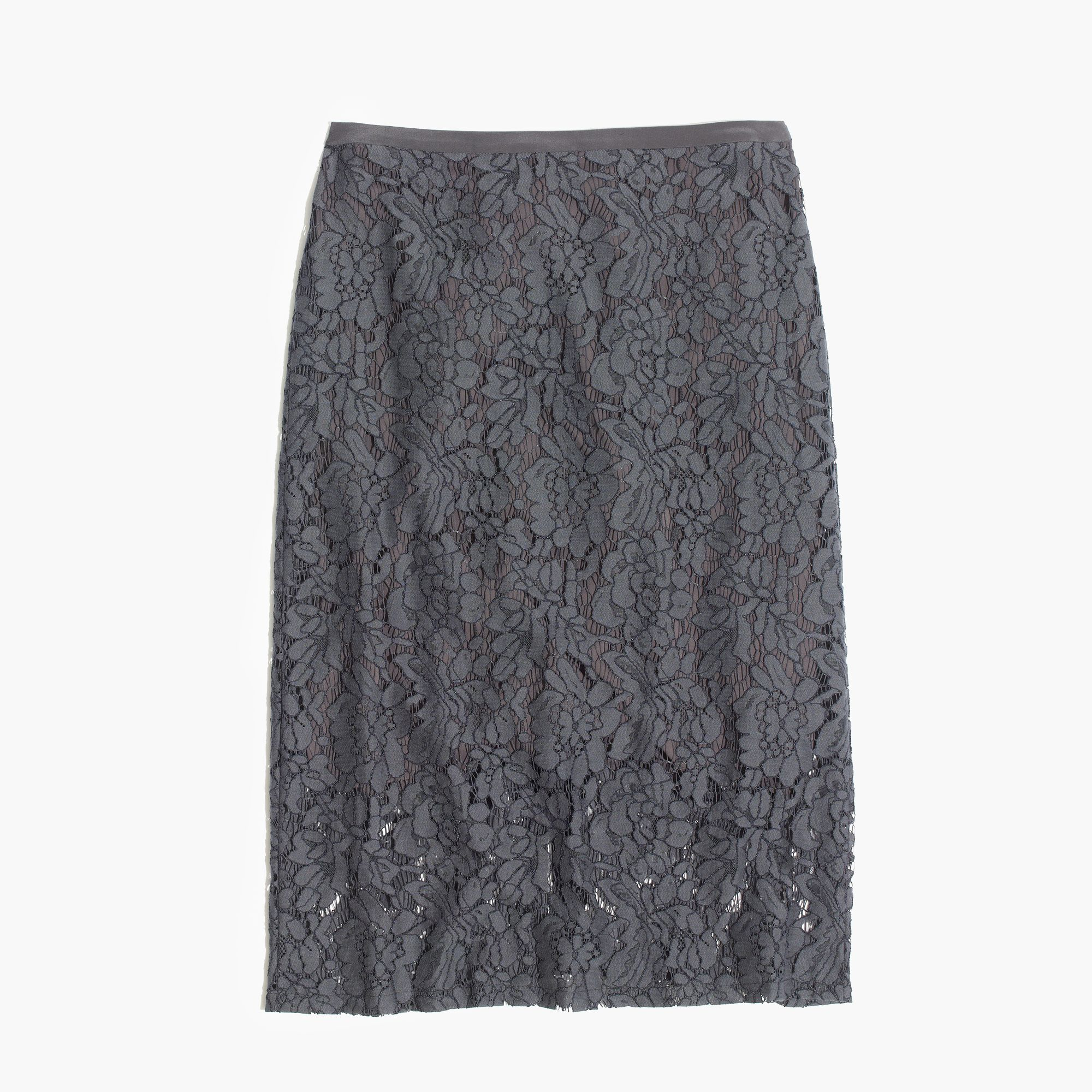 Madewell Lace Pencil Skirt in Gray | Lyst