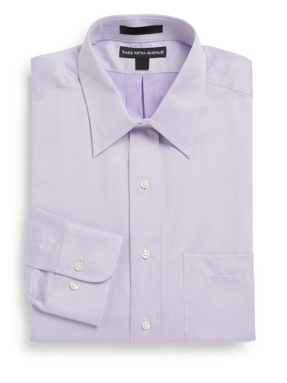 Lyst saks fifth avenue regular fit basketweave two ply for 2 ply cotton dress shirt