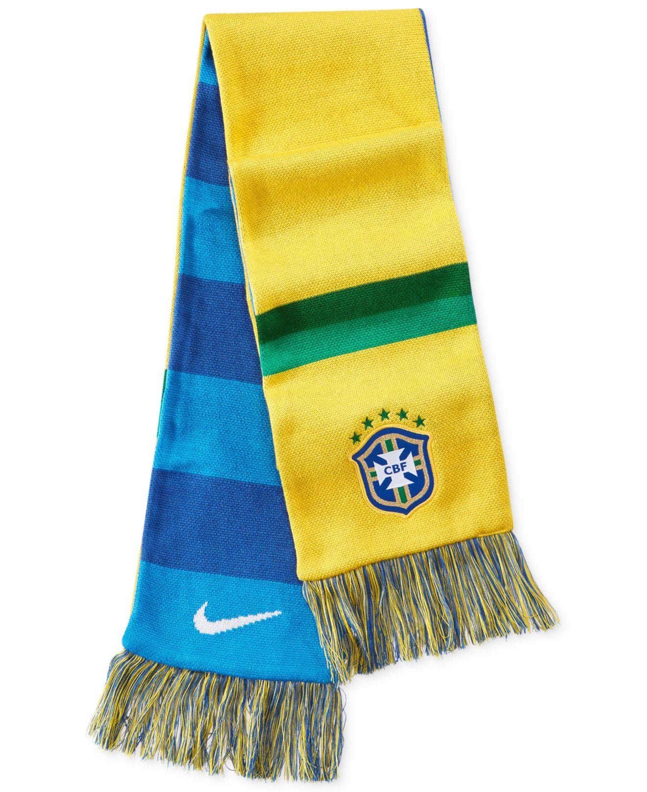 nike brasil supporters scarf in blue for varsity