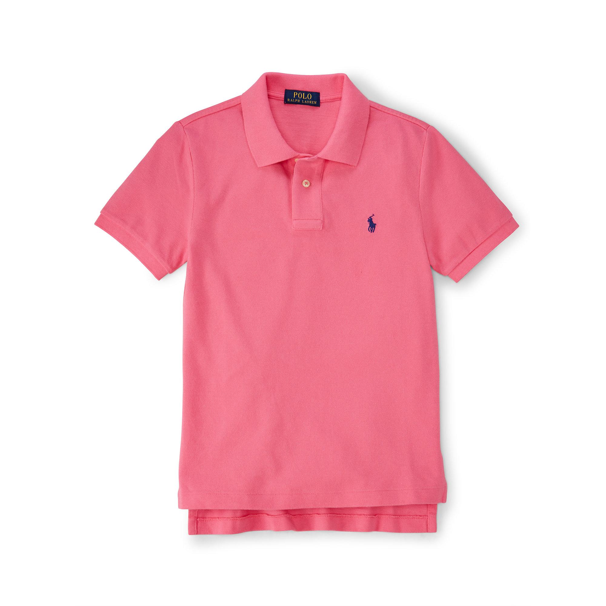 b330ffab Lyst - Ralph Lauren Custom-fit Cotton Polo Shirt in Pink for Men