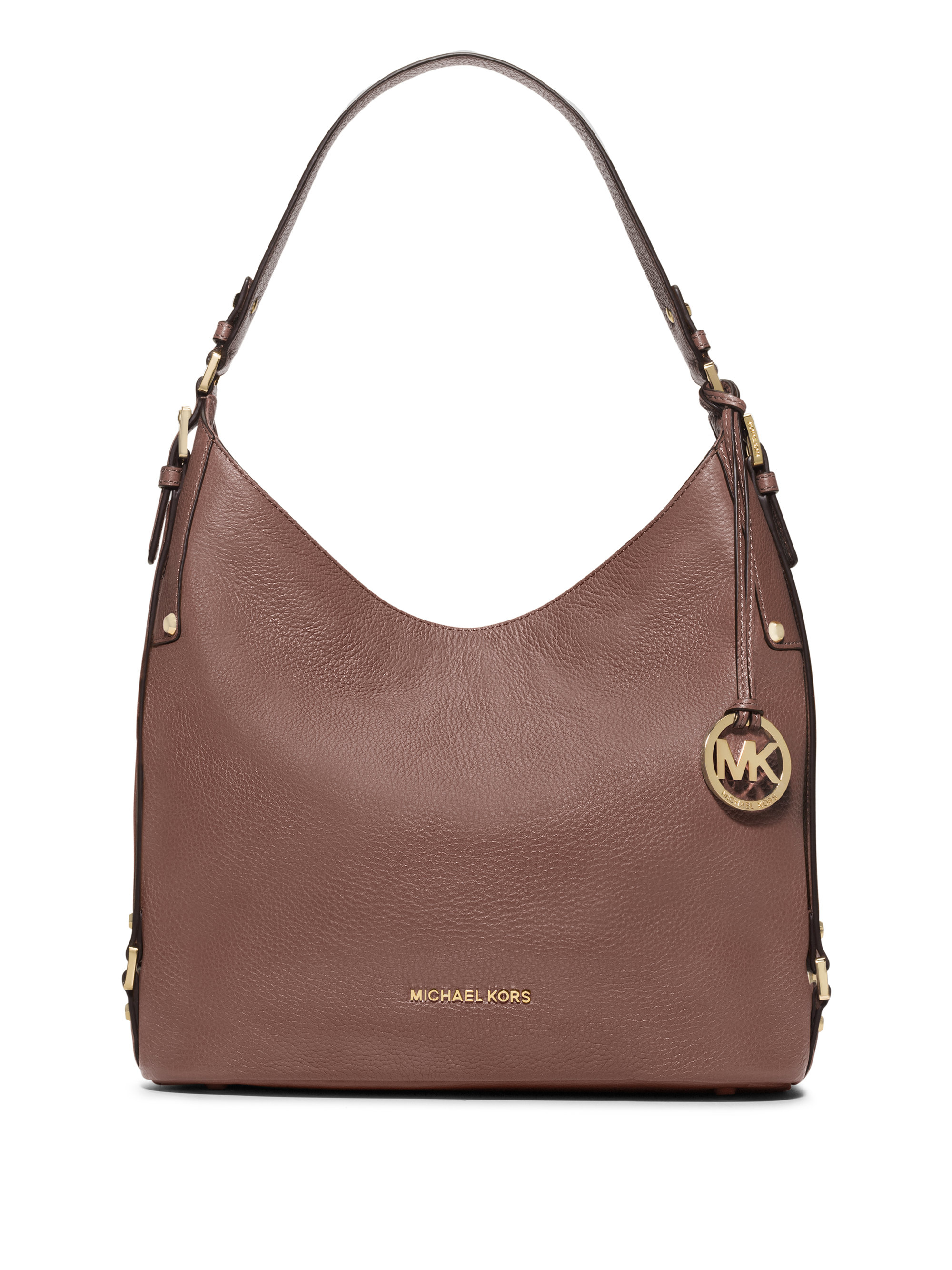 Michael michael kors Bedford Belted Large Leather Hobo Bag in Pink ...