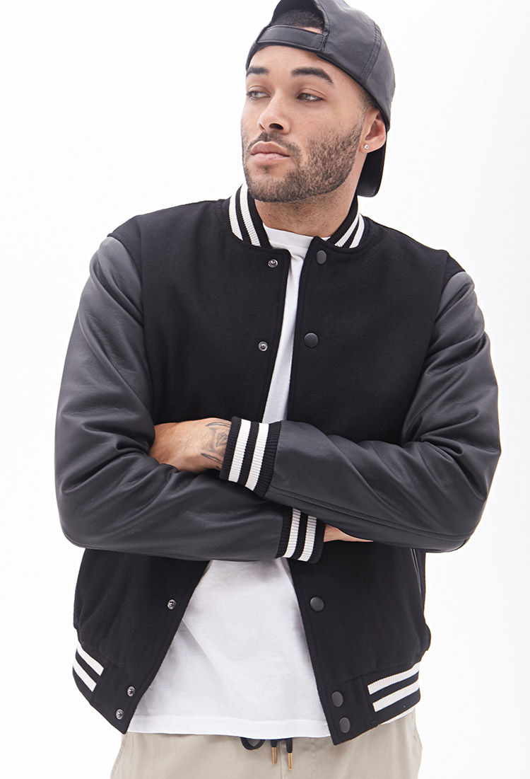 Black varsity jacket cheap