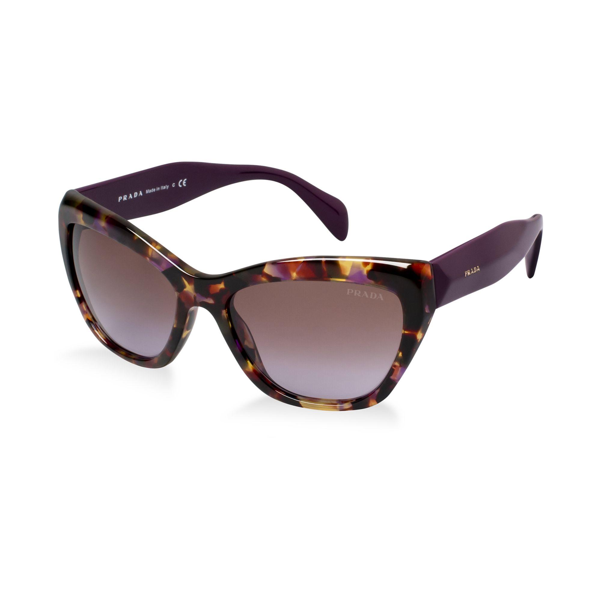 Prada Sunglasses in Purple (TORTOISE PURPLE/PURPLE) Lyst