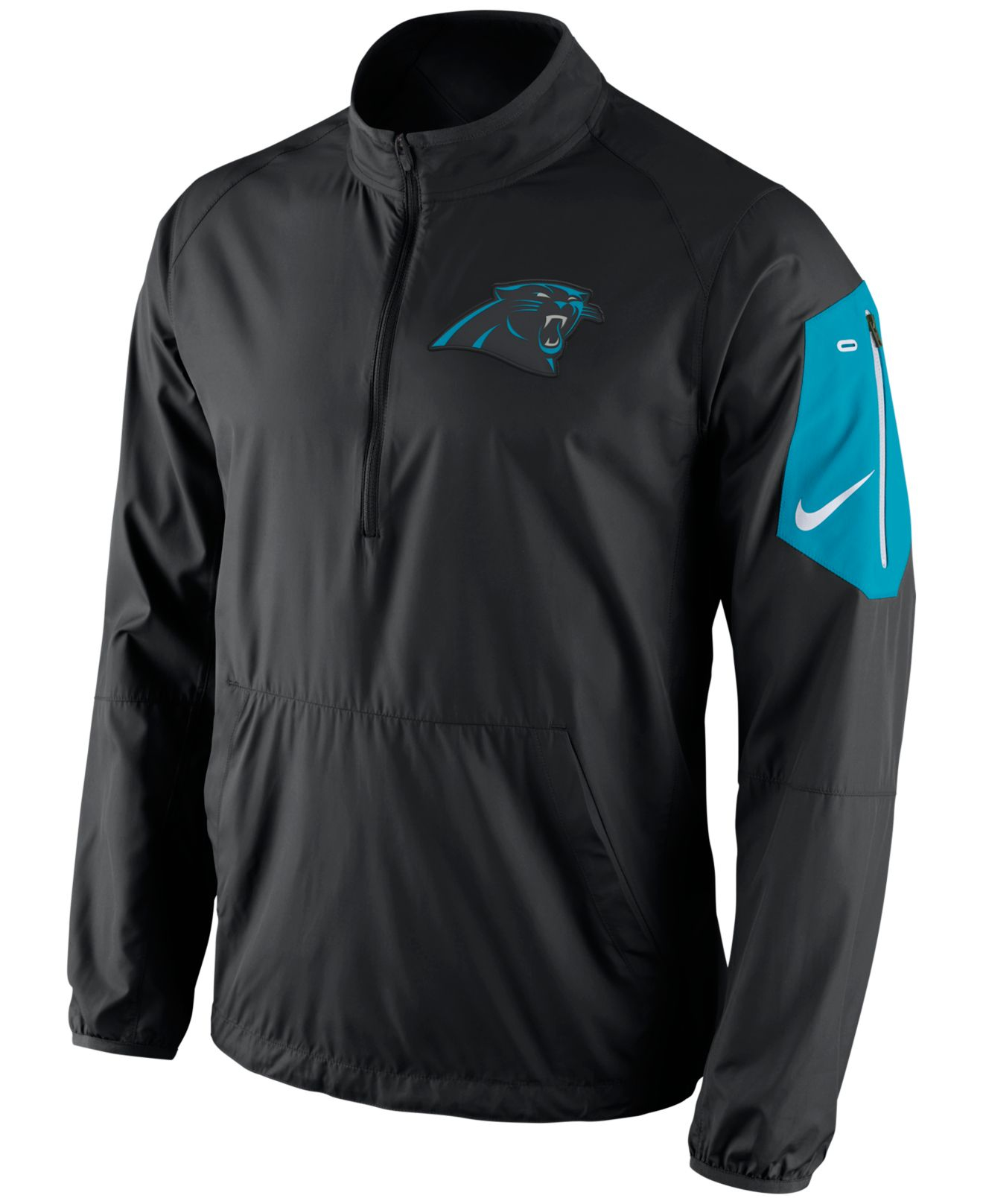 Nike Men's Carolina Panthers Lockdown Half-zip Jacket in Black for ...