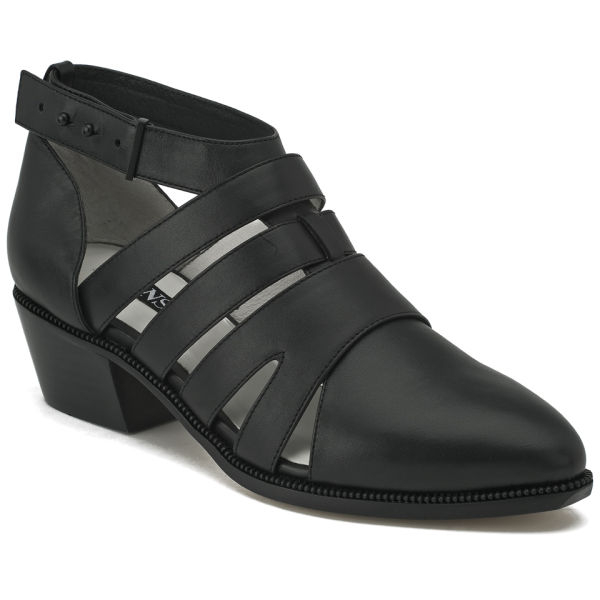 Senso Womens Lily Ii Cut Out Leather Heeled Ankle Boots in Black ...