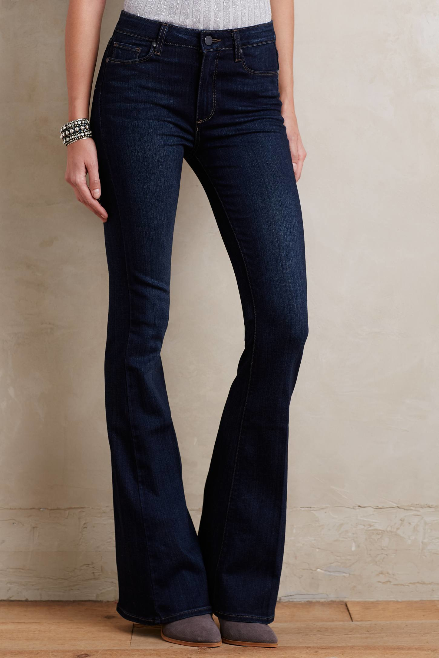 Paige High-rise Bell Canyon Flare Jeans in Blue | Lyst
