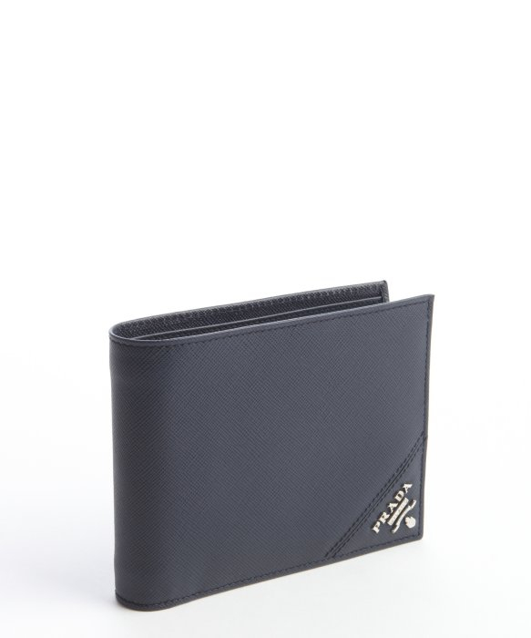 a1b523278cffbb Lyst Prada Baltic Blue Saffiano Leather Bifold Wallet In For Men